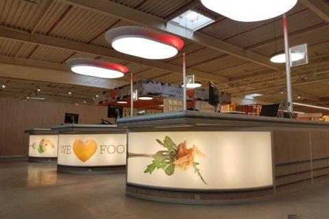 Checkouts & Instore Siging van Zon België