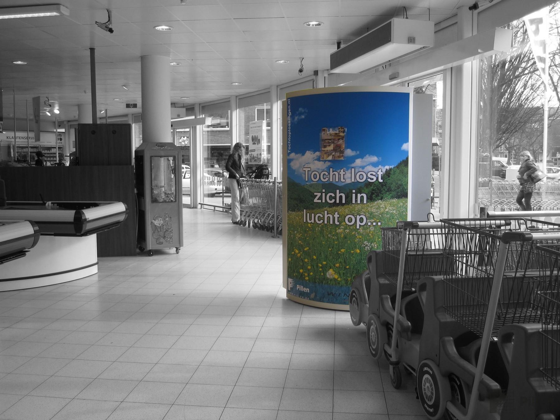 Tochtpreventie supermarkt