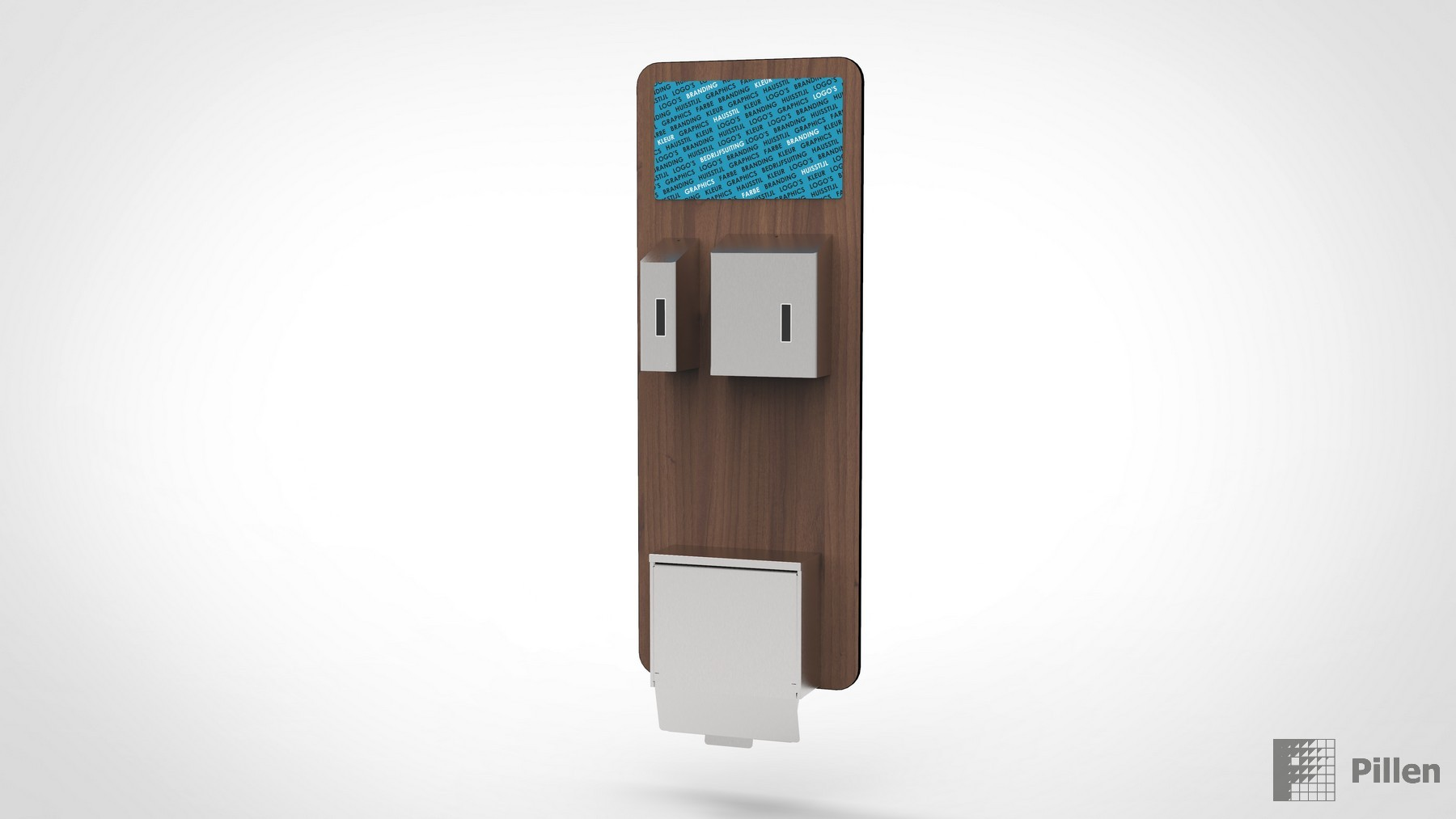 Wand display für Desinfektion Produkte und Dispenser